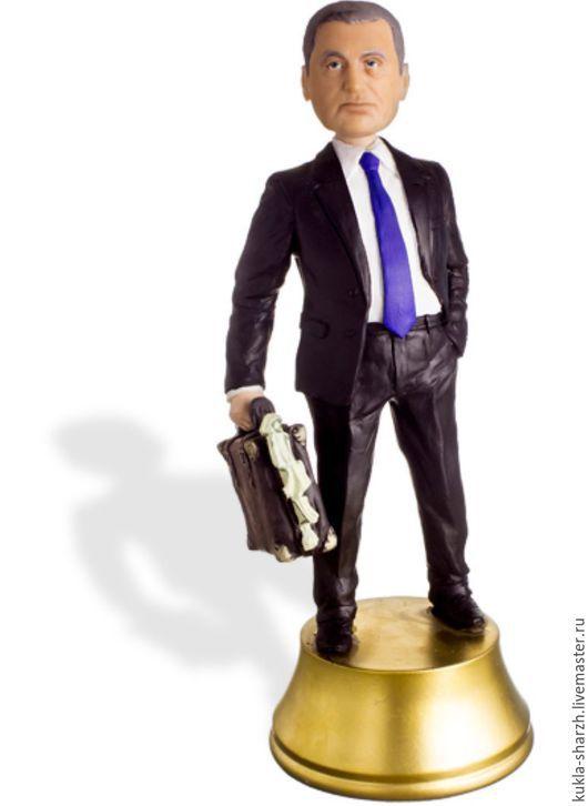 """Портретные куклы ручной работы. Ярмарка Мастеров - ручная работа. Купить Кукла шарж по фотографии """"Большой начальник"""". Handmade."""