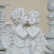 Дача и сад handmade. Livemaster - original item Statuette of Angels kissing white made of polyresin. Handmade.