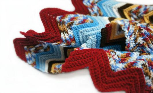 Текстиль, ковры ручной работы. Ярмарка Мастеров - ручная работа. Купить Плед вязаный в стиле Миссони Вишня в шоколаде. Handmade.