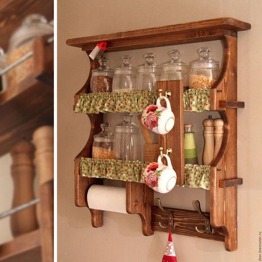 """Мебель ручной работы. Ярмарка Мастеров - ручная работа. Купить Полка кухонная """"Siena"""". Handmade. Кухонная, баночек, полочка, кантри"""