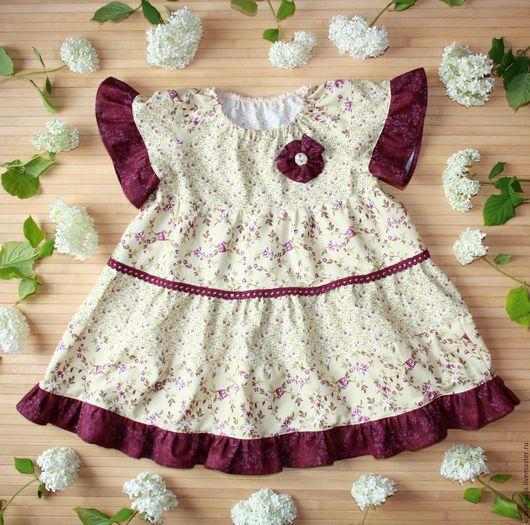Одежда для девочек, ручной работы. Ярмарка Мастеров - ручная работа. Купить Бохо платье для девочки, детское хлопковое платье. Handmade.