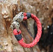 Украшения handmade. Livemaster - original item Leather bracelet - Bear. Handmade.