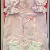 """Работы для детей, ручной работы. Ярмарка Мастеров - ручная работа Набор крестильный для девочки  """"Прованс"""". Handmade."""