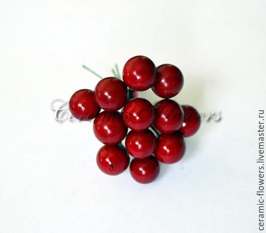 Материалы для флористики ручной работы. Ярмарка Мастеров - ручная работа. Купить Декоративные ягоды на проволоке. Handmade. Ярко-красный