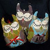 Куклы и игрушки ручной работы. Ярмарка Мастеров - ручная работа Мягкая игрушка Спящая Сова (3 цвета). Handmade.