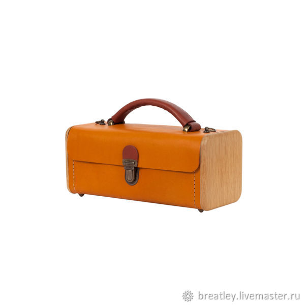 Red handbag made of genuine leather and wood LADIES ' STEP, Classic Bag, Moscow,  Фото №1