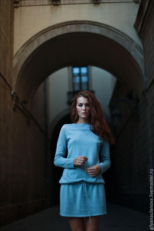 Платья ручной работы. Ярмарка Мастеров - ручная работа. Купить Платье с кулисской. Handmade. Платье, платье вязаное, романтичное платье