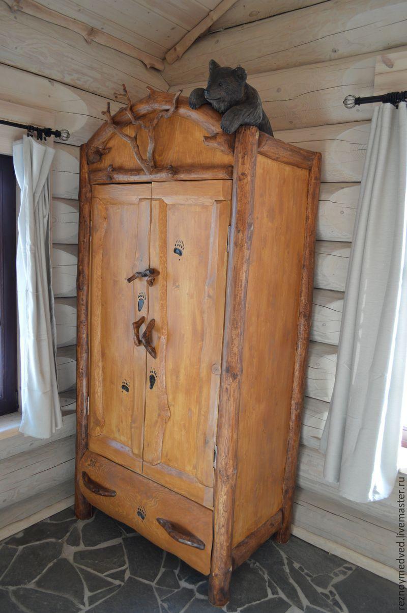 мебель из дерева в загородном доме фото