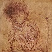 Картины и панно ручной работы. Ярмарка Мастеров - ручная работа Самое первое Слово... Сказочная картина фэнтези. Мать и дитя.. Handmade.