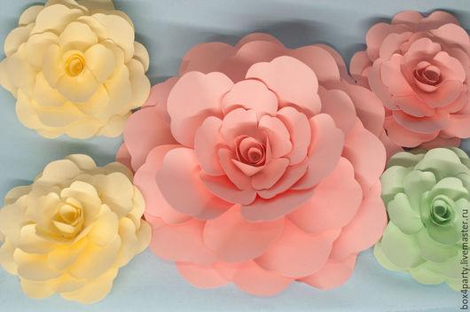 Свадебные аксессуары ручной работы. Ярмарка Мастеров - ручная работа. Купить Цветы из бумаги. Handmade. Разноцветный