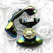 Винтаж ручной работы. Ярмарка Мастеров - ручная работа Телефон,парные броши,две брошки,винтаж,телефончик,трубка телефона. Handmade.