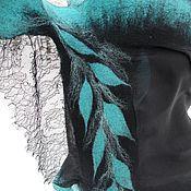"""Аксессуары ручной работы. Ярмарка Мастеров - ручная работа Валяный палантин """"Антильские острова """". Handmade."""