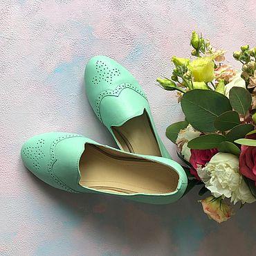 Обувь ручной работы. Ярмарка Мастеров - ручная работа Балетки «Anna» мятный. Handmade.
