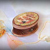 Для дома и интерьера ручной работы. Ярмарка Мастеров - ручная работа Шкатулка  из дерева Дамский разговор. Handmade.