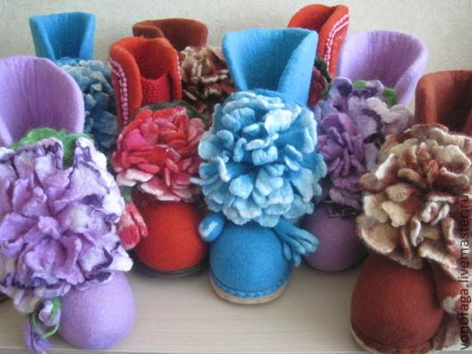 Обувь ручной работы. Ярмарка Мастеров - ручная работа. Купить Валенки. Handmade. Бирюзовый, валенки для улицы