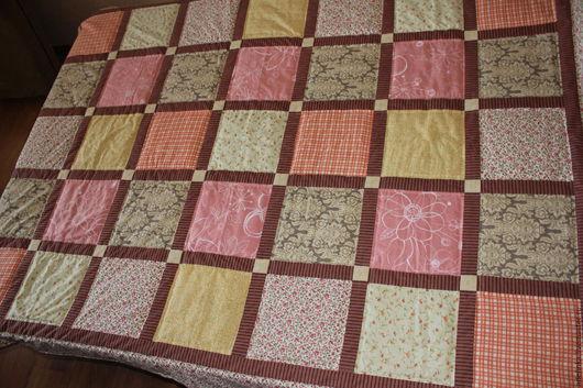 Текстиль, ковры ручной работы. Ярмарка Мастеров - ручная работа. Купить Лоскутное покрывало. Зефир (акварельные сюжеты). Handmade.