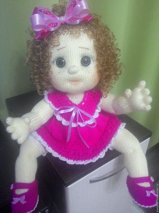 Человечки ручной работы. Ярмарка Мастеров - ручная работа. Купить Вязаная кукла. Handmade. Фуксия, подарок на любой случай, холлофайбер