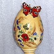 Подарки к праздникам ручной работы. Ярмарка Мастеров - ручная работа Пасхальное яйцо липовое Павлиний глаз. Handmade.