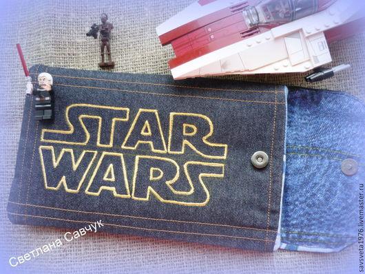Для телефонов ручной работы. Ярмарка Мастеров - ручная работа. Купить Чехол для планшета Star Wars. Handmade. Чёрно-белый