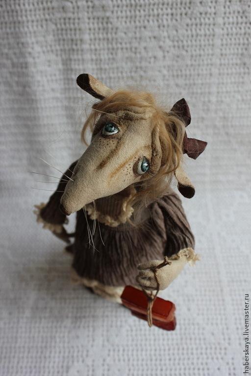 """Коллекционные куклы ручной работы. Ярмарка Мастеров - ручная работа. Купить """"Давай мириться?"""" Крыска  текстильная. Handmade. Хаберская"""