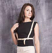 Аксессуары handmade. Livemaster - original item Beige belt leather. Handmade.
