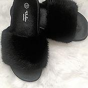 Обувь ручной работы handmade. Livemaster - original item Mink fur flip flops. Handmade.