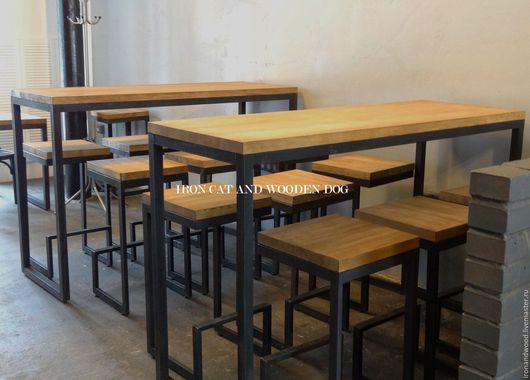 Мебель ручной работы. Ярмарка Мастеров - ручная работа. Купить Барный стол в стиле лофт. Handmade. Коричневый, мебель на заказ