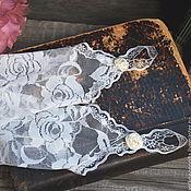 Свадебный салон ручной работы. Ярмарка Мастеров - ручная работа Длинные кружевные перчатки. Handmade.
