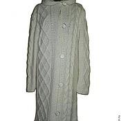 Одежда ручной работы. Ярмарка Мастеров - ручная работа Вязаное пальто для шикарной дамы. Handmade.