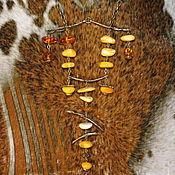 """Колье ручной работы. Ярмарка Мастеров - ручная работа Колье янтарное """"Запад-Восток"""". Handmade."""