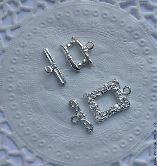 Для украшений ручной работы. Ярмарка Мастеров - ручная работа. Купить Замочек тоггл,серебро 925. Handmade. Серебряный