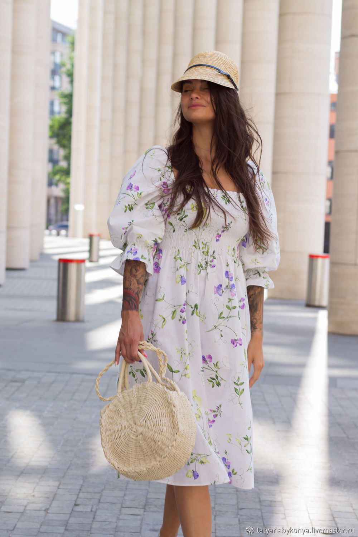 'Santana' light cotton dress with voluminous sleeves, Dresses, St. Petersburg,  Фото №1