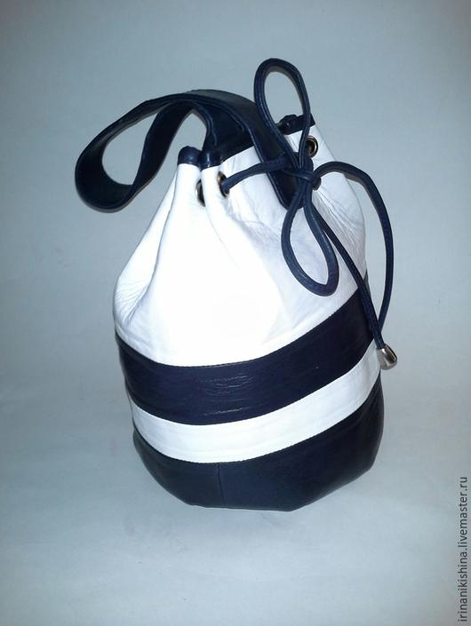"""Женские сумки ручной работы. Ярмарка Мастеров - ручная работа. Купить сумка-рюкзак""""На море!"""". Handmade. Разноцветный, сумка кожаная"""