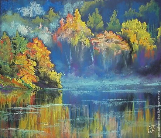 `С палитры осени стекают краски` Картина пастелью Екатерина Пятакова