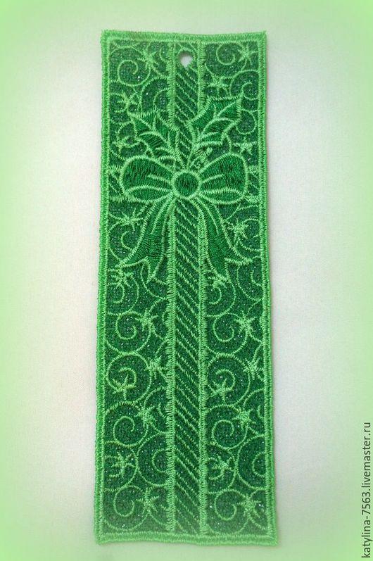 """Закладки для книг ручной работы. Ярмарка Мастеров - ручная работа. Купить """"Ажурная закладка для книг"""". Handmade. Зеленый, закладка для ежедневника"""