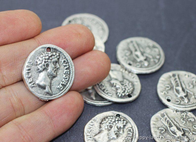 Монета  декоративная Цезарь 27 мм,, Фурнитура, Хабаровск, Фото №1