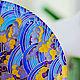 """Тарелки ручной работы. Тарелка декоративная """"Золотая рыбка"""". Перфект•studio роспись/декор. Интернет-магазин Ярмарка Мастеров. Подарок, тарелка на стену"""