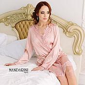 Одежда ручной работы. Ярмарка Мастеров - ручная работа Короткий халатик персиково-розового цвета. Handmade.
