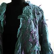 "Одежда ручной работы. Ярмарка Мастеров - ручная работа кардиган  ""Emerald dal in the depths of the deep sea"". Handmade."