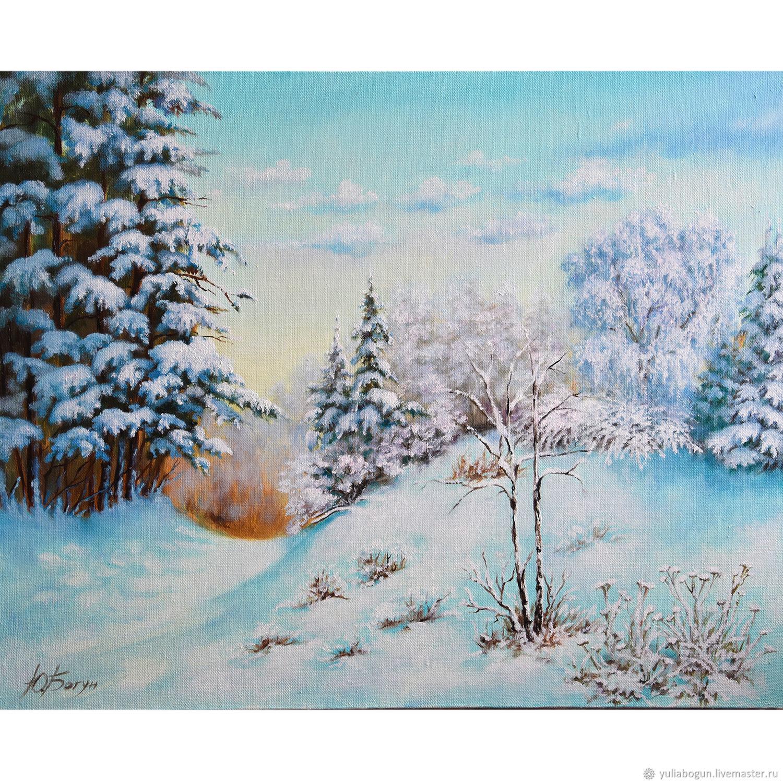 Oil painting landscape ' Russian winter', Pictures, Belorechensk,  Фото №1