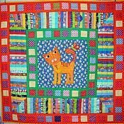 Для дома и интерьера ручной работы. Ярмарка Мастеров - ручная работа лоскутное одеяло для мальчика КОТЯ одеяло для детей. Handmade.