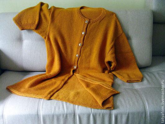"""Кофты и свитера ручной работы. Ярмарка Мастеров - ручная работа. Купить Кардиган """"Мамзель"""". Handmade. Оранжевый, Медовый, янтарь, кардиган"""