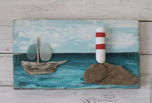 Пейзаж ручной работы. Ярмарка Мастеров - ручная работа. Купить Морское панно. Handmade. Морская волна, подарок с моря