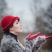 Аксессуары ручной работы. Ярмарка Мастеров - ручная работа Шляпка № 12 Красный Клош. Handmade.