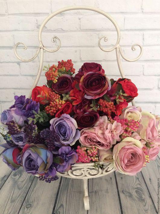 Материалы для флористики ручной работы. Ярмарка Мастеров - ручная работа. Купить Букет винтажных роз.. Handmade. Комбинированный, ткань