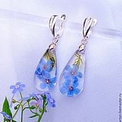 Украшения handmade. Livemaster - original item Earrings-drops transparent. Handmade.