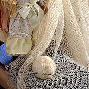 """Аксессуары ручной работы. Ярмарка Мастеров - ручная работа Пуховый платок  """"Снежинка"""". Handmade."""