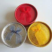 Материалы для творчества ручной работы. Ярмарка Мастеров - ручная работа Подарочная упаковка круглая коробочка для украшений d8см. Handmade.