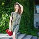 Платья ручной работы. Ярмарка Мастеров - ручная работа. Купить Платье-туника зеленая мозаика, шелковая. Handmade. Оливковый