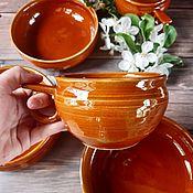 Посуда handmade. Livemaster - original item Set of dishes HONEY. Handmade.